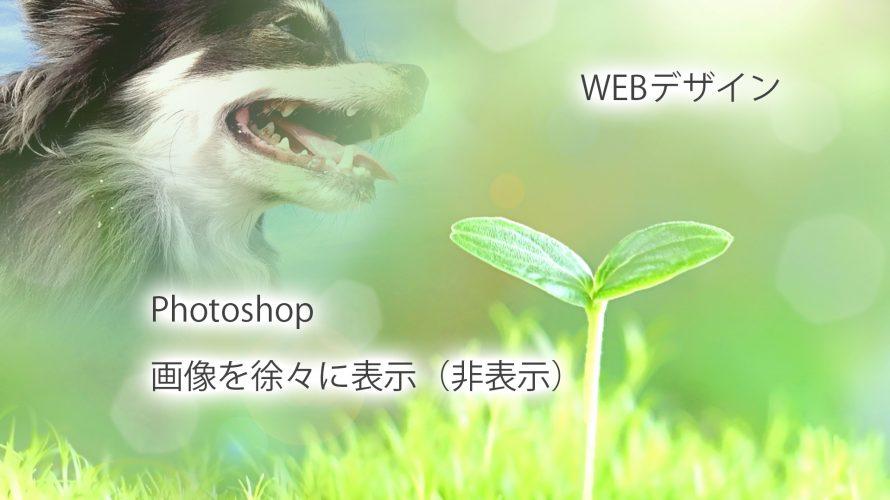 Photoshop 画像を徐々に濃くする